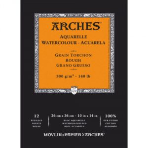 Bloc papier aquarelle Arches 300g m² orange